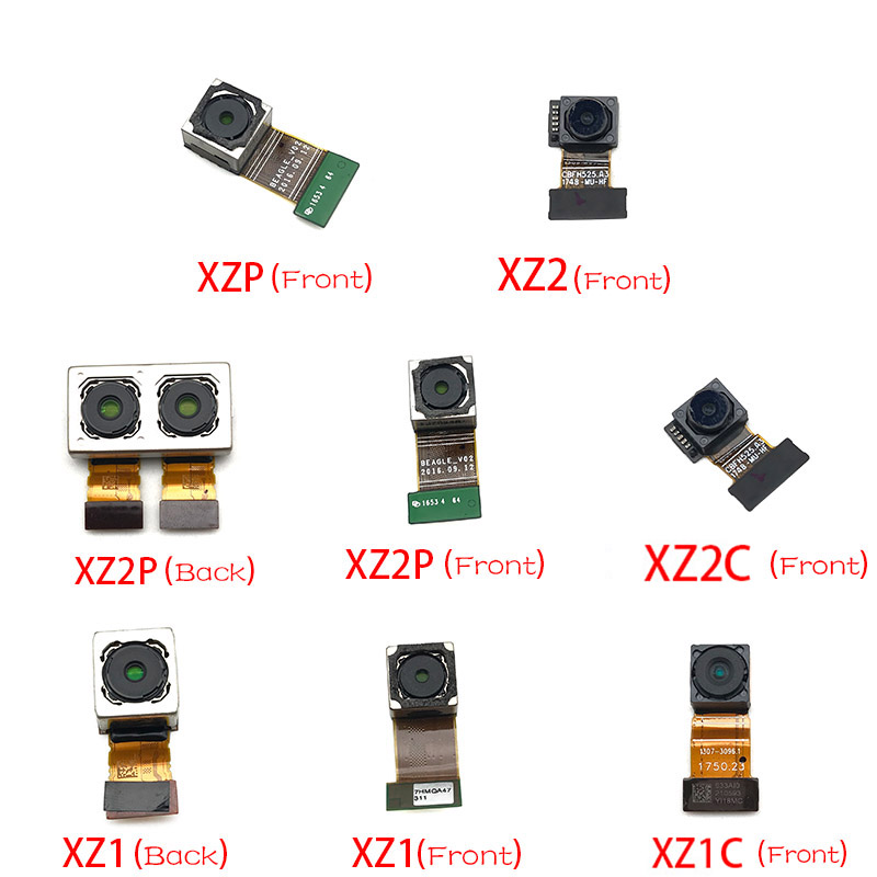 New Front Camera Flex With Back Rear Camera Module Flex Cable For Sony Xperia XZ XZ1 Compact XZ2 Premium XZ3