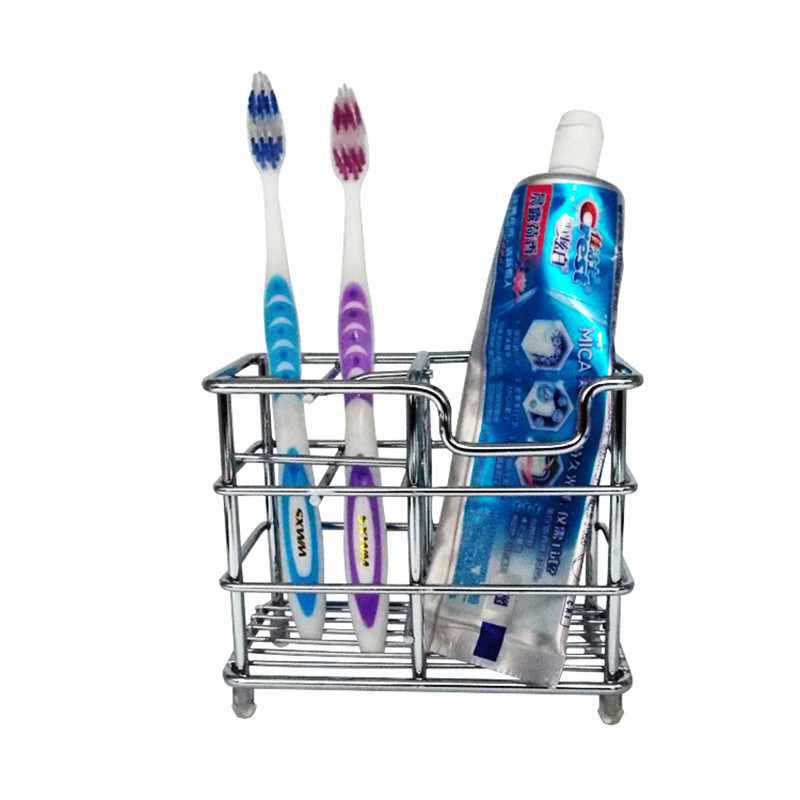 Stainless Steel Toothbrush And Toothpaster Holder Bathroom Racks Accessories Comb Holder Toothbrush Organizer Box