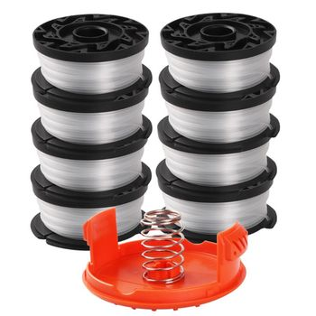 "line string trimmer replacement spool 30ft 0 065inch replacement spool for black decker Replacement Spool scap cover for Black Decker Line String spring Trimmer Weed Eater Refills 30ft 0.065""AF-100-3ZP N1HF"