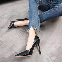 Туфли женские из лакированной кожи на высоком каблуке