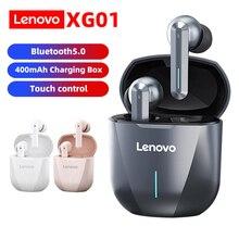 Lenovo XG01 TWS słuchawki bezprzewodowe słuchawki Bluetooth 5.0 słuchawki do gier HiFi Stereo Sound słuchawki douszne wbudowany mikrofon z oświetleniem LED