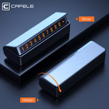 CAFELE Luminous Car Temporary Parking Card Hidden Switch Number Plate Stickers with 3M Sticker Automobile Interior Accessories