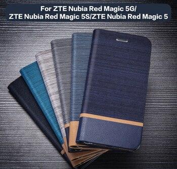 Перейти на Алиэкспресс и купить Кожаный чехол-кошелек для ZTE Nubia Red Magic 5G чехол для телефона ZTE чехол для ZTE Nubia Red Magic 5S Nubia Red Magic 5 чехол силиконовая задняя крышка