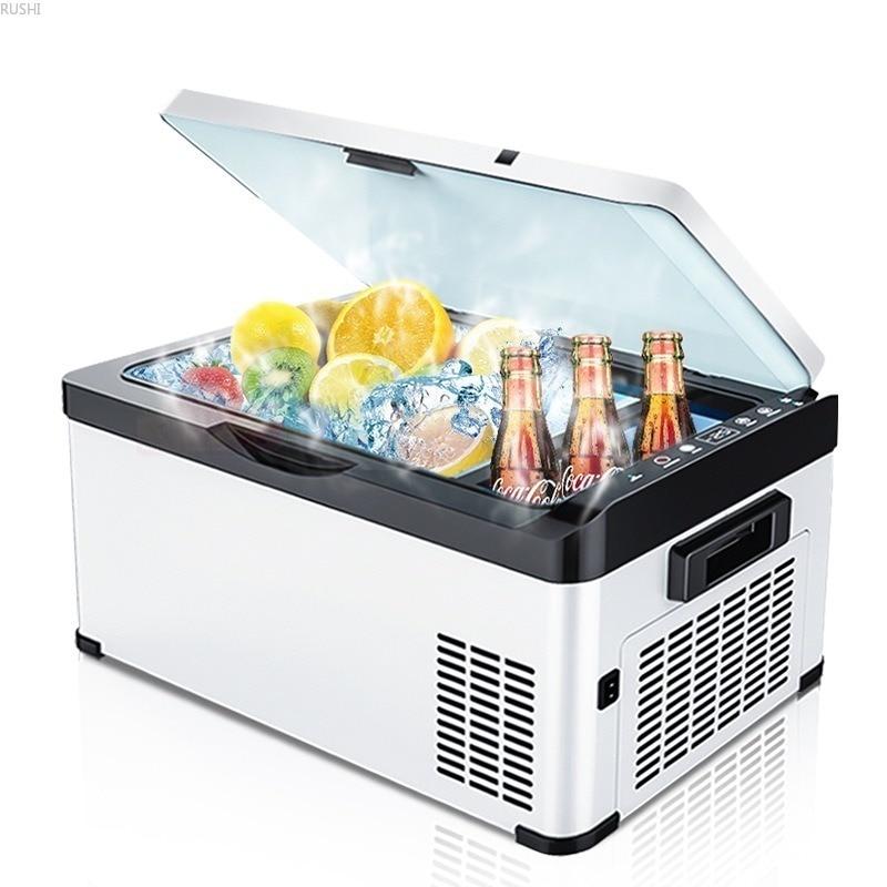30L Car Refrigerator Compressor Refrigeration Car Home Dual Purpose Vehicle Mini Fridges Mini Refrigerator Car Fridge 12v 220V