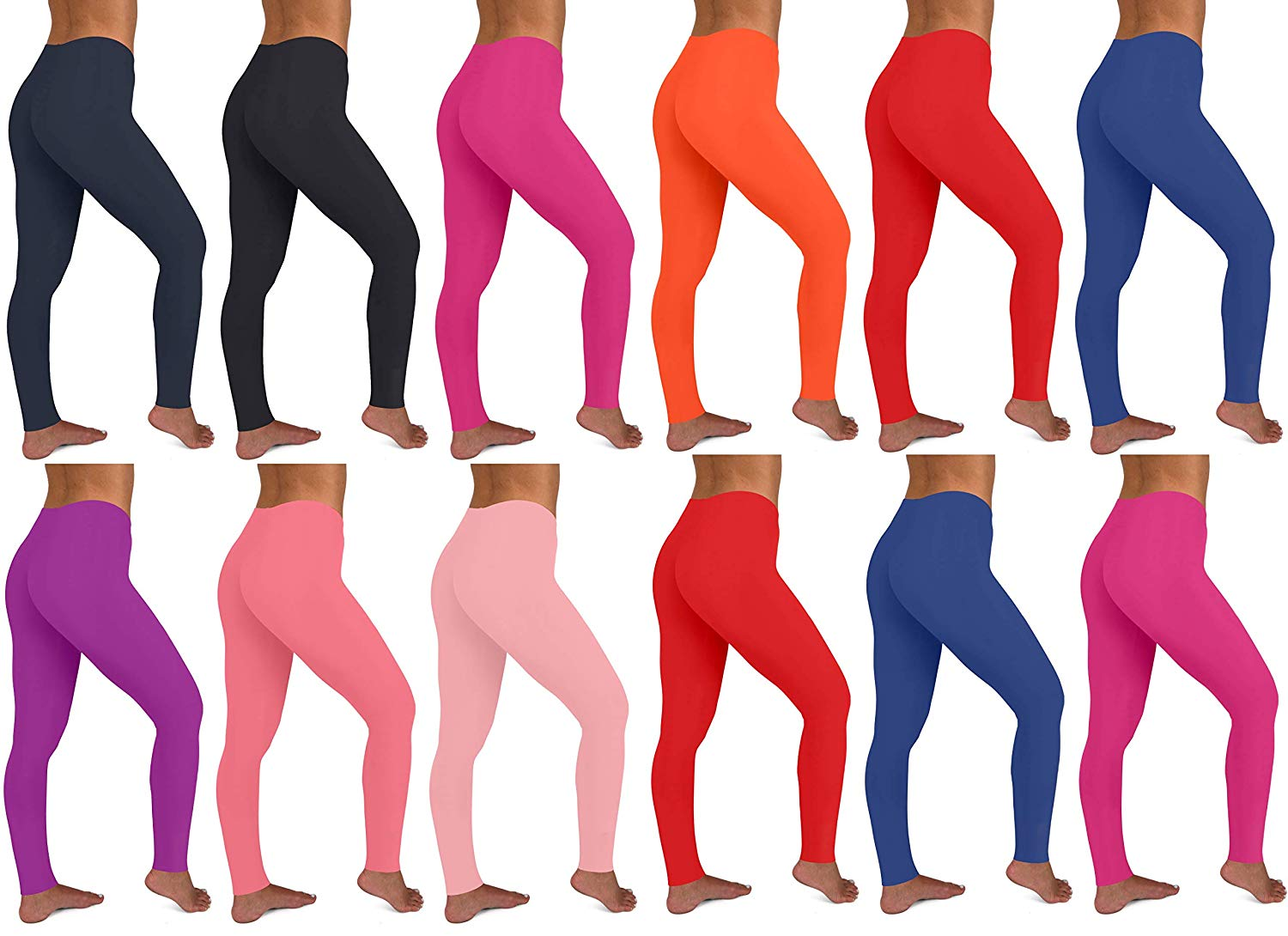 40 Pieces Women's 12 Pack Stretch Cotton Full Length Legging Tights2019 Bamboo Fiber  Silk
