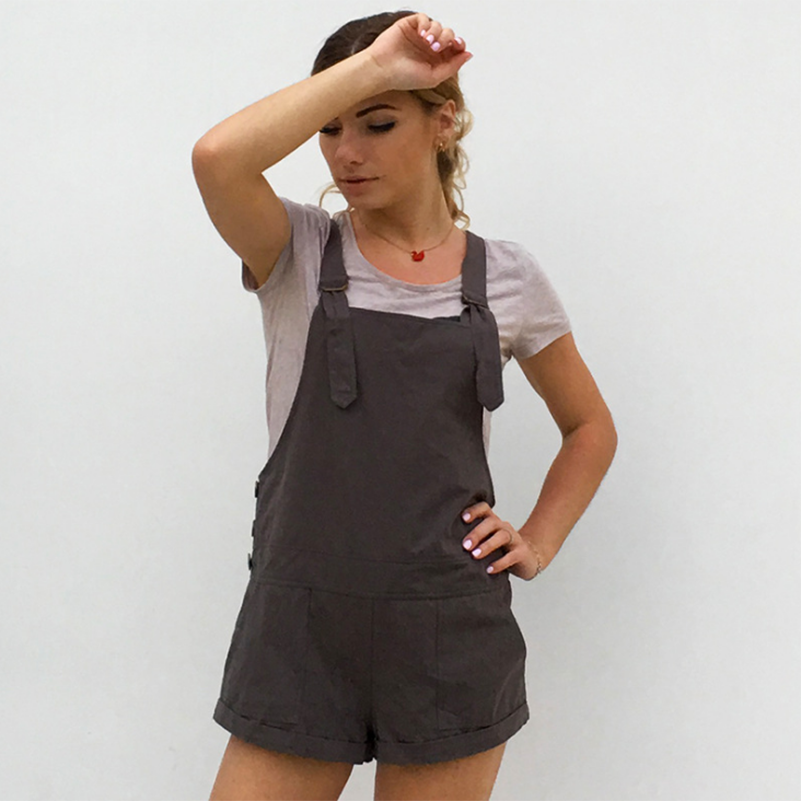 Cotton Rompers Women Button Fashion New Playsuits Style 2020 Cute Casual Female Solid New Shorts Overalls Jumpsuit With Summer