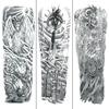 Waterproof Tattoo Sticker Full Arm Totem Large Size Sleeve Arm Tiger Fake Tattoo Men Women