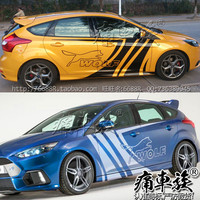 Car stickers for Ford Focus 2016 body appearance modified decorative stickers Focus WOLF Wolf vehicle stickers