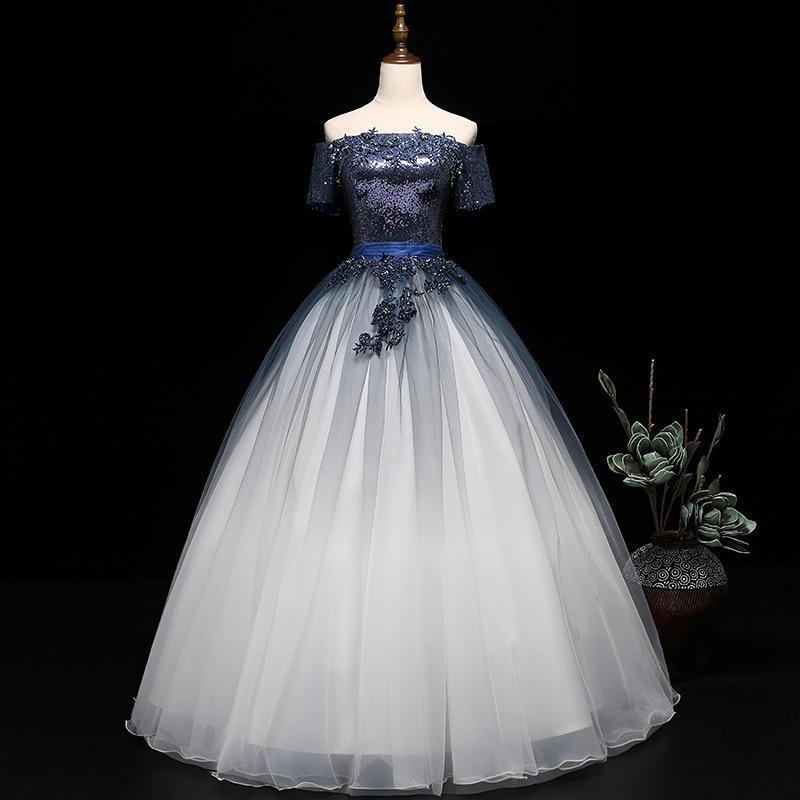 Elegant Off The Shoulder Vintage Quinceanera Dresses Bling Bling Sequin Appliques Party Debutante Dresses Vestidos