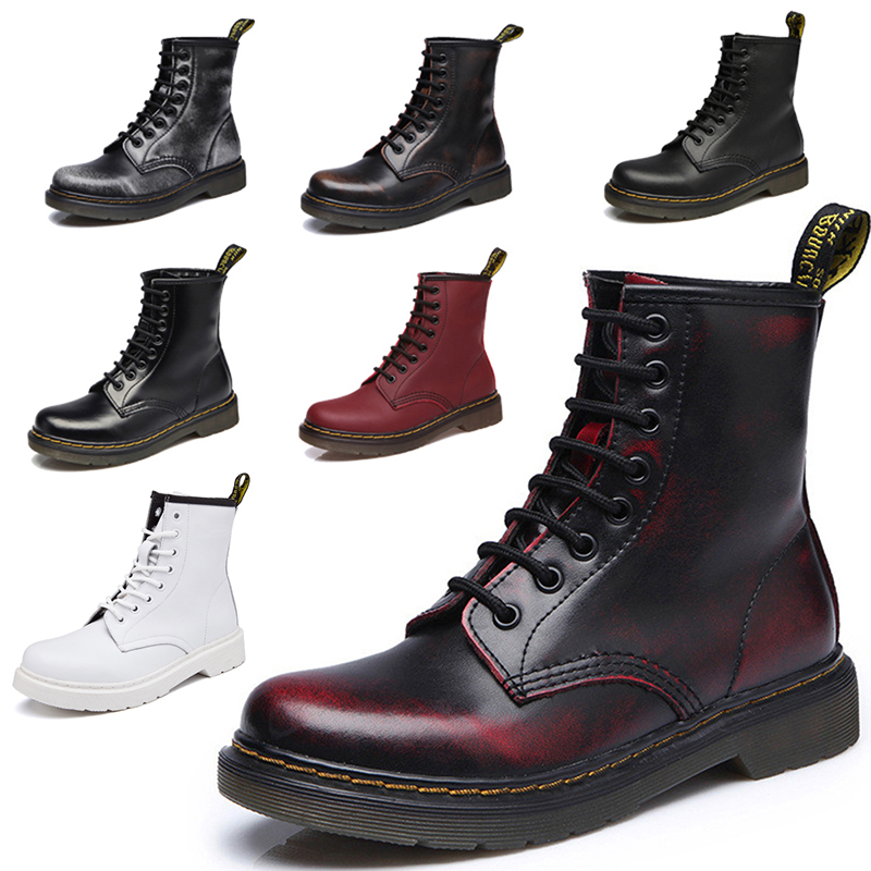 Male Shoes Adult Men Boots Genuine Leather Motorcycle Boots Men Shoes For Martin Boots Plush Warm Winter Boots Free Shipping