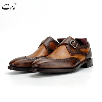цена на cie Goodyear Welted Handmade Full Grain Calf Leather Dress Men Shoes Office Business Leather Outsole Shoe Formal Elegant MS189