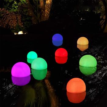 2 sztuk wodoodporna lampa LED oświetlenie do basenu z pilotem zdalnego staw oczko wodne pływające dla tej lampy basen staw oczko wodne jacuzzi ogród dla dzieci do kąpieli dekoracji tanie i dobre opinie ANENG CN (pochodzenie) 1-3 metry kwadratowe IP65 Figurka Światła Z tworzywa sztucznego Nowoczesne Other Pool Light 0-5 w
