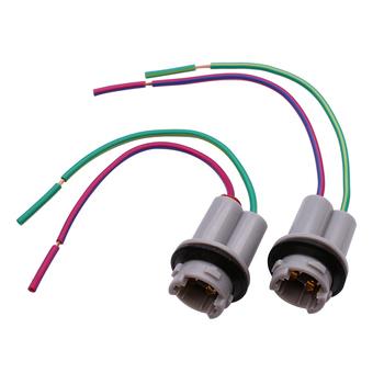 YUNPICAR T15 912 920 921 kable w wiązce gniazdo Pigtail Adapter złącze dla LED żarówki w celu wymiany lub modernizacji 2 sztuk tanie i dobre opinie Drut miedziany