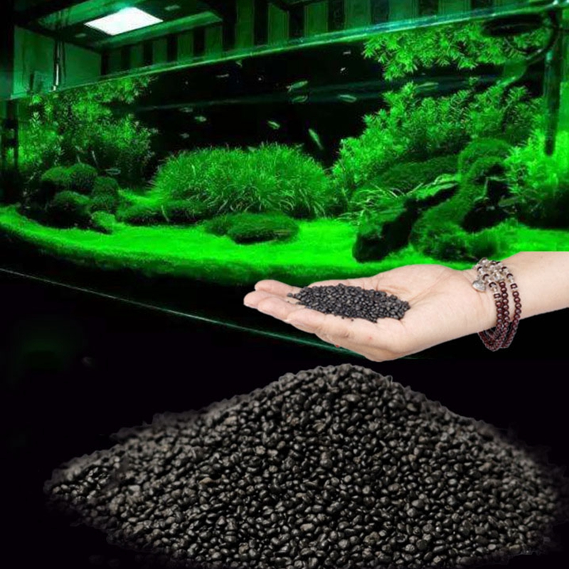 100g Fish Tank Water Plant Fertility Substrate Aquarium Plant Soil Substrate Gravel Aquatic Decoration Grass Plant Mud Soil