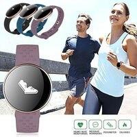 Women Purple Blue Bluetooth Smart Bracelet Watch for Office Lady Heart Rate Monitor Sport Pedometer