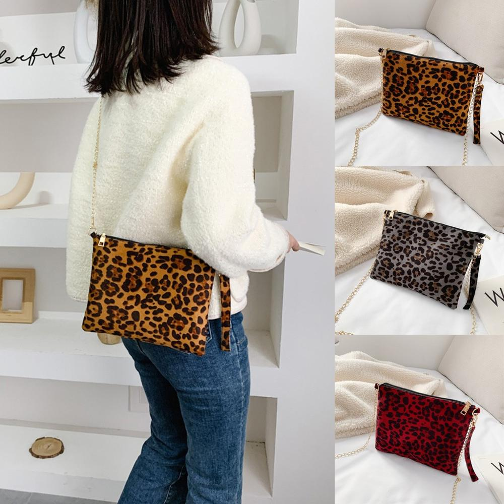 Fashion Crossbody Bags For Women Leopard Printing Phone Bag Small Messenger Bag New Bolsa Feminina    #2D25