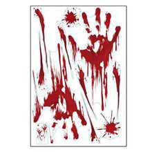 Wall Sticker Waterproof Halloween Blood Handprint Blood Footprint Sticker Horror Decoration Sticker Festival Party Supplies(China)