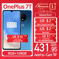 Smartphone Global OnePlus 7T fucover AMOLED 6.55 90Hz Snapdragon 855 Plus NFC UFS 3.0 48 MP triples caméras