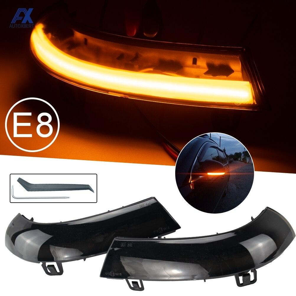 Автомобильный светодиодный светильник s зеркало заднего вида Индикатор мигалка ретранслятор светильник Динамический указатель поворота ч...