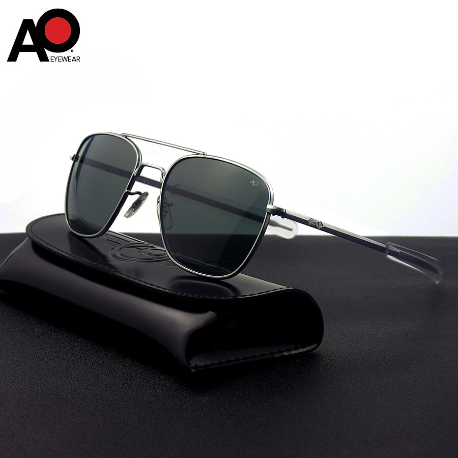 American Optical Sunglasses Men Pilot Aviation Sunglasses Anti drop Explosion proof Tempered Glass Sun Glasses Boutique AO55 57|Men's Sunglasses| - AliExpress