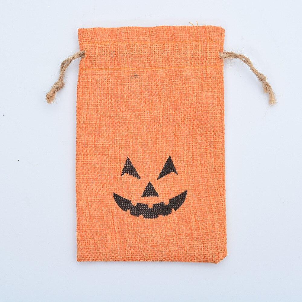 Halloween decoração sacos de linho saco de