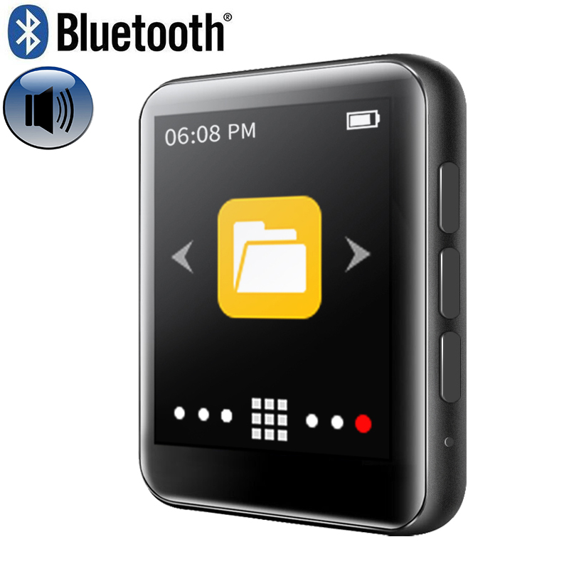 Ruizu New Metal Bluetooth Mp3 Player 8gb Built-in Speaker Fm Radio E-book Voice Recorder Portable Audio Sport Flac Music Video