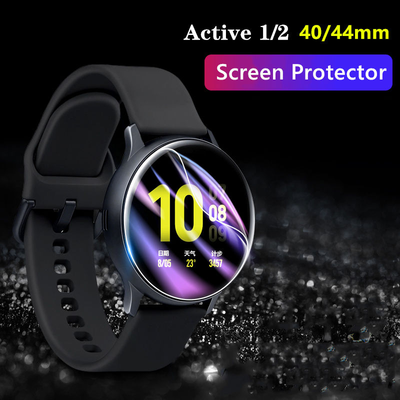 Full Protective film For Samsung Galaxy watch active 2 Screen Protector 3D HD Ultra-thin watch Active2 44mm 40mm Accessories 44