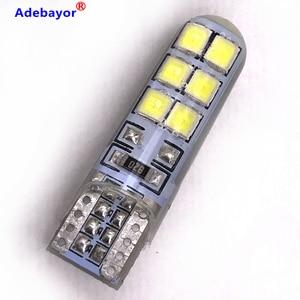 20 pcs Car Auto LED T10 Canbus 194 W5W 2835 SMD 12 LED Light Bulb No Error LED Light Parking T10 LED Car Side Light adebayor