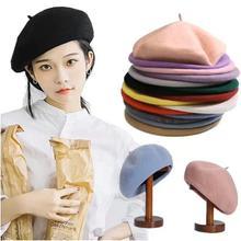 French Hat Fashion Beret Hat Women Felt Beret British Style