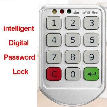 Teclado Fechadura da porta Senha de Bloqueio Eletrônico Digital inteligente Candad Número Código Fechaduras para Porta de Armário Da Gaveta Mais Seguro Inteligente