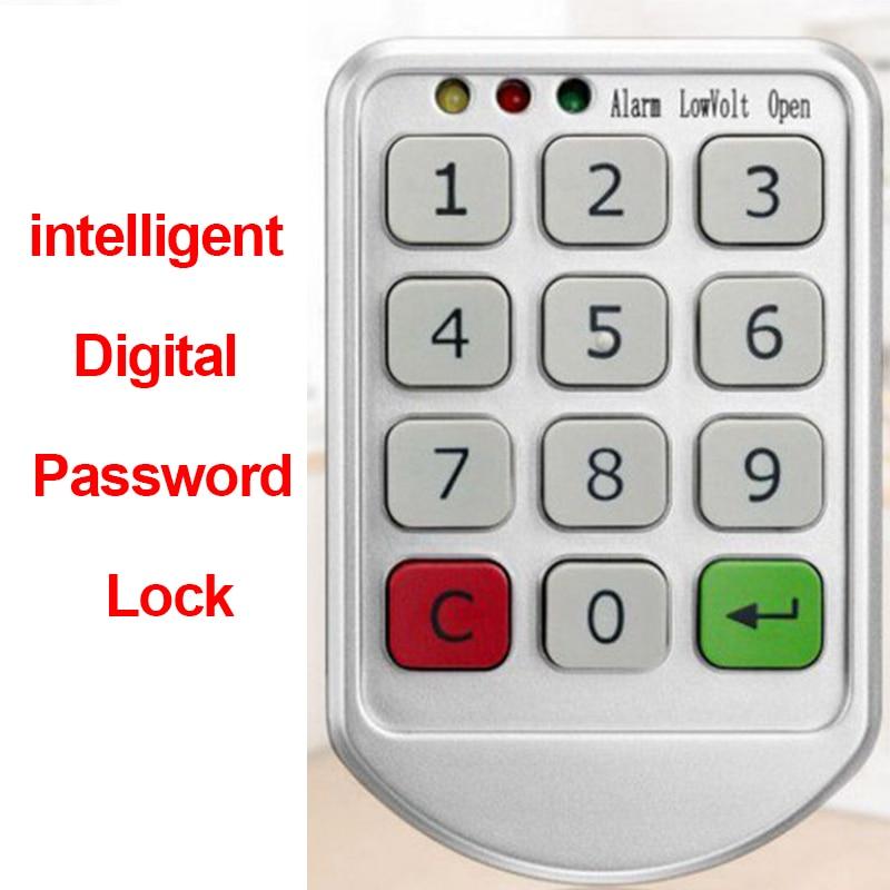 intelligent Digital Password Lock Electronic Door Lock Keypad Candad Number Code Locks for Cabinet Door Intelligent Drawer Safer Door Remote Control     - title=