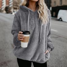 Plus Size Autumn Winter Women Casual Solid Zipper Long Sleeve Sweatshir