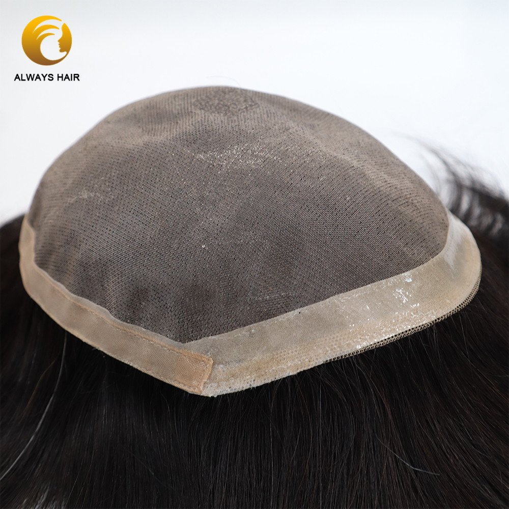 Semi Quality Mono & Poly Coated 6 Inch Men Toupee Front Coutour