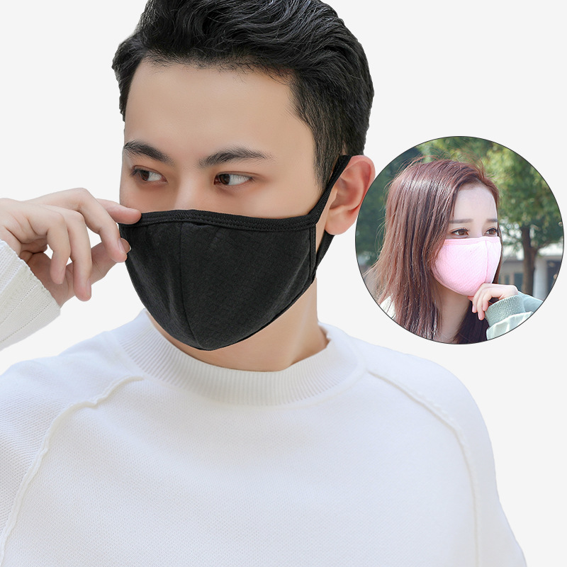 Masks Winter Stereo Fog And Haze PM2.5 Dustproof Warm Breathable Activated Carbon Black Mian