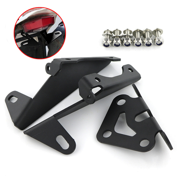 For Yamaha WR250R WR250X All Year Motorcycle Tail Tidy License Plate Holder Bracket Fender Eliminator kit Aluminum Black недорого
