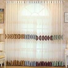 Тюлевые шторы для гостиной разноцветные европейские бархатные