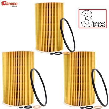 3Pc Oil Filter For BMW E30 318i E34 518i 518g E36 318TI 316i 318i 318is E46 316Ci Z3 1.6L 1.8L 1.9L Z3 1995-2003 1.8L 1.9L image