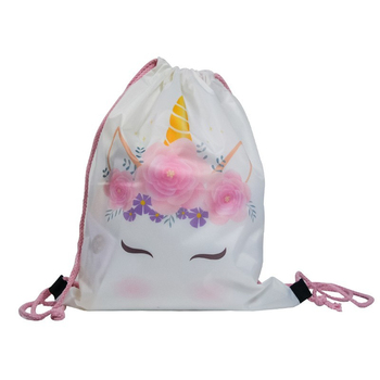 Cartoon Unicorn 150cm Round Beach Towel Wall Tapestry Picnic Blanket Portable Outdoor Sport Storage Bag Bundle Pocket Kids Gift 8