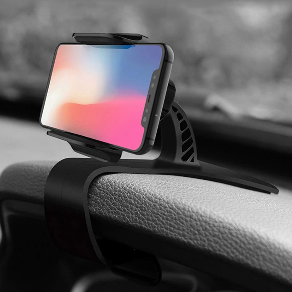 XMXCZKJ Newest 360 Rotation Adjustable HUD Car Dashboard Phone Holder GPS Clamp Clip cellphone Stand for Iphone 11 Xiaomi Huawei