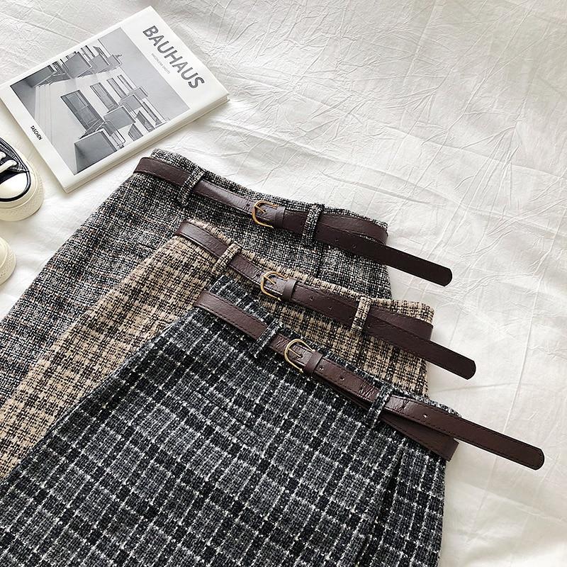 Vintage Women Plaid High Waist Mini Skirt 7