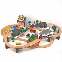 92 Pieces / Sets of Children's Toys Wooden Railway Train Set Standard Electronic Locomotive Track Children's Toys Birthday Gifts