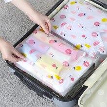 VOGVIGO إيفا الفاكهة حقيبة مستحضرات تجميل شفافة السفر حقيبة مستحضرات تجميل يشكلون ختم سستة المنظم كيس التخزين غسل الزينة حمام عدة