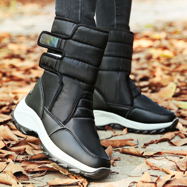 Women snow boots platform winter boots Women Shoes thick plush waterproof non-slip boots women winter shoes big size botas mujer