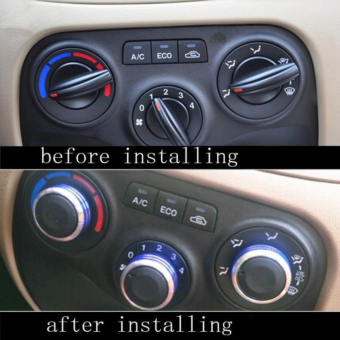 3pcs Set Car AC Knob Aluminum alloy Air Conditioning Heat Control Switch Accessories Suitable For KIA RIO 2006-2011 hxh