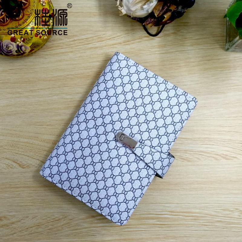 A6 Binder Folder Refillable Folder Clear Pen Bag Color Stickers Fashion Design 6 Rings Binder Notebook 2020 Calendar