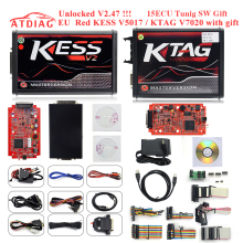 Лучший неограниченный Токен! KTAG 7,020 KESS 5,017 инструмент для программирования ЭКЮ K-Tag V7.020 SW 2,25 V2.47 с функцией GPT лучше, чем Ktm100