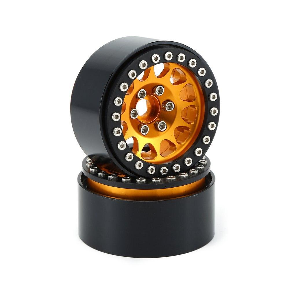 Где купить 4 шт. 1,9 металлический Beadlock обод колеса для 1:10 RC Гусеничный Traxxas Hsp Redcat Rc4wd Tamiya Axial Scx10 D90 Hpi аксессуары для шин