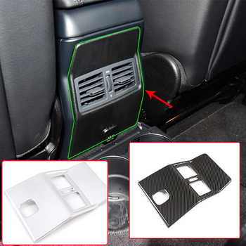 Carbon Fiber Style Car Rear Seat Air Conditioning Vent Cover Trim Sticker For Mercedes Benz G Class W463 2007-2018 Accessory