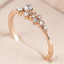 Новинка, модные женские кольца, Женские Элегантные Простые Свадебные кольца со стразами и кристаллами, золотые кольца для влюбленных, ювелирные изделия, подарок