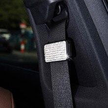 Автомобильные аксессуары Автомобильный Зажим для ремня безопасности автомобиля Регулируемый горный хрусталь ремни безопасности стопор Пряжка автомобильный ремень безопасности зажим Универсальный